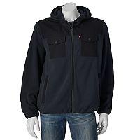 Men's Levi's® Fleece Mixed Media Hooded Jacket
