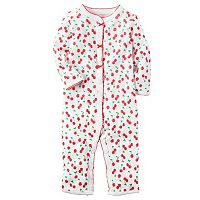 Baby Girl Carter's Picot-trim Print One-Piece Pajamas