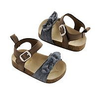 Baby Girl Carter's Bow Sandal Crib Shoes