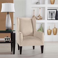 Serta Stretch Fit Wingback Chair Slipcover by