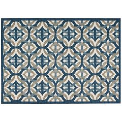 Waverly Sun N Shade Celestial Geometric Indoor Outdoor Rug