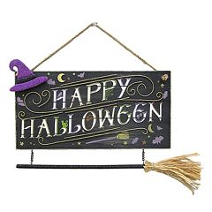 Click here to buy Celebrate Halloween Together Witch Broom Wall Decor .