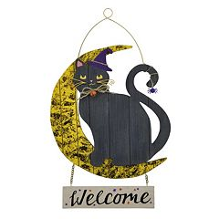 Celebrate Halloween Together Black Cat Wall Decor  by