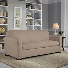 Serta Reversible Stretch Suede Sofa Slipcover by