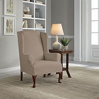 Serta Reversible Stretch Suede Wingback Chair Slipcover