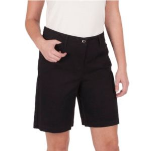 Women's Larry Levine Basic Twill Bermuda Shorts