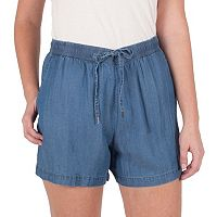 Women's Larry Levine Chambray Pull-On Shorts