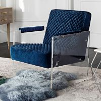 Safavieh Couture Upholstered Acrylic Arm Accent Chair