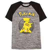 Boys 8-20 Pokemon Pikachu Raglan Tee