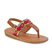 Josmo Toddler Girls' Embroidered Slingback Sandals