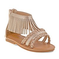 Laura Ashley Toddler Girls' Fringe Ankle Cuff Sandals