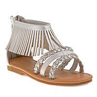 Laura Ashley Toddler Girls' Fringe Ankle Cuff Sandals