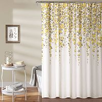 Lush Decor Weeping Flower Shower Curtain