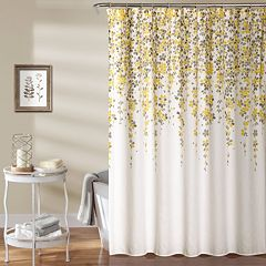 Lush Decor Weeping Flower Shower Curtain by