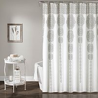 Lush Decor Stripe Medallion Shower Curtain