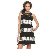 Women's Nina Leonard Tie-Dye Gauze Tank Dress