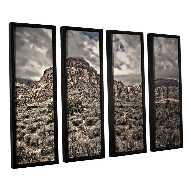 ArtWall ''No Distractions'' Framed Wall Art 4-piece Set, Green thumbnail