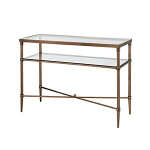 Madison Park Signature Porter Glass Top Console Table