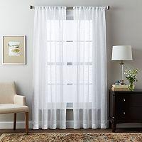 Curtainworks Brook Slubbed Sheer Curtain