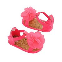 Baby Girl Carter's Pink Plume Sandal Crib Shoes