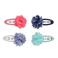 Toddler Girl Carter's 4-pk. Satin-Wrapped Rosette Hair Clip Set