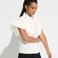 k/lab Wide Ruffle Shirt