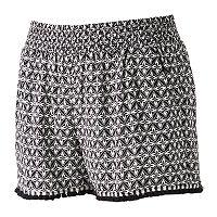 Juniors' Joe B Fringe Hem Shortie Shorts