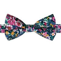 Men's Rooster Floral Pre-Tied Bow Tie