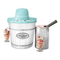 Nostalgia Electrics 4-qt. White Wood Ice Cream Maker