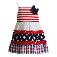 Baby Girl Youngland Patriotic Ruffled Sundress