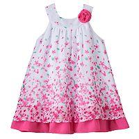 Baby Girl Blueberi Boulevard Floral Chiffon Swing Dress