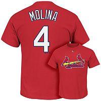 Men's Majestic St. Louis Cardinals Yadier Molina Tee
