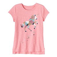 Girls 4-10 Jumping Beans® Graphic Step Hem Tee