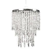 Tadpoles Faux-Crystal Triple Layer Dangling Pendant Chandelier Light Fixture Shade