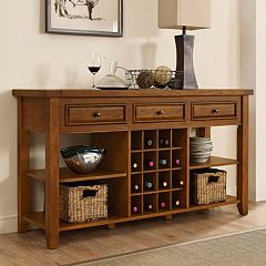 Crosley Furniture Sienna Wine Rack Console Table by