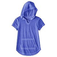 Girls 7-16 & Plus Size SO® Short Sleeve Sparkle Hooded Pullover