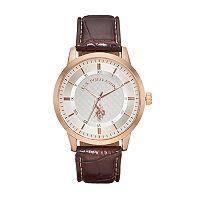 U.S. Polo Assn. Men's Leather Watch - USC50481KL