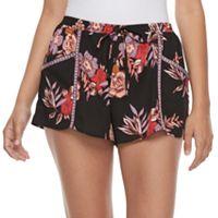 Juniors' About A Girl Print Shortie Shorts