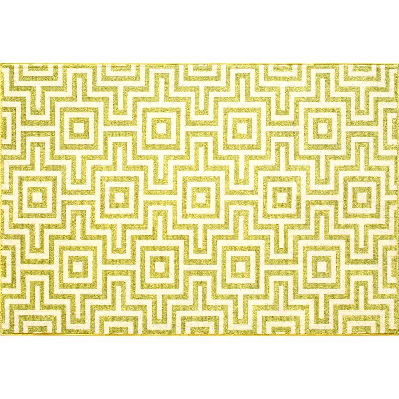 Momeni Baja Geometric I Indoor Outdoor Rug, Lt Green thumbnail