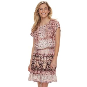 Women's SONOMA Goods for Life™ Printed Fit & Flare Dress