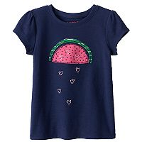 Toddler Girl Jumping Beans® Embroidered Graphic Tee