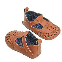 Baby Girl OshKosh B'gosh® Laced Moccasin Crib Shoes