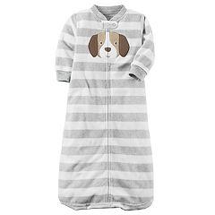 Baby Boy Carter's Dog Striped Fleece Sleep Bag