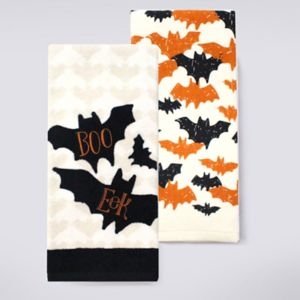 Celebrate Halloween Together Halloween Bats Kitchen Towel 2-pk.