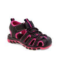 Rugged Bear Girls' Bungee Sport Sandals