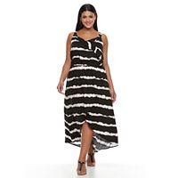 Plus Size Design 365 Tie-Dye Faux-Wrap Dress