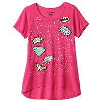 Girls 7-16 DC Comics Super Hero Girls High-Low Splatter Graphic Tee