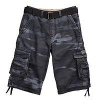 Boys 8-20 Unionbay Cordova Camo Messenger Belted Cargo Shorts