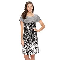 Women's Perceptions Abstract Pintuck Shift Dress