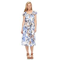 Women's Perceptions Floral A-Line Dress